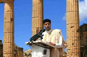 Ông Saif al-Islam Kadhafi tại lễ công bố dự án