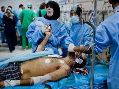 Bệnh viện Libya quá tải vì những người bị thương do chiến tranh.