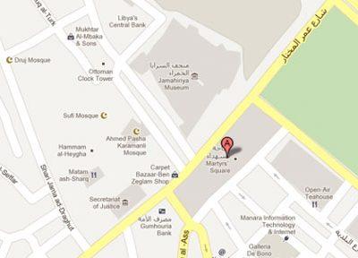 """Google Maps """"tự tiện"""" thay tên Quảng trường tại Lybia trên bản đồ  ------------ Xem thêm: Google Maps thay tên biểu tượng của Libya trên bản đồ"""
