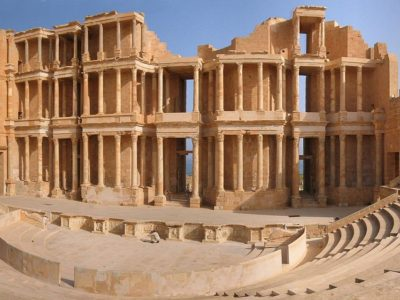 Nhà hát Sabratha cổ ở Libya.