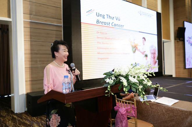 Bác sĩ Sue Lo cố vấn của phòng khám Ung bướu Singapore - Việt Nam chia sẻ về ung thư vú và việc tầm soát ung thư vú.