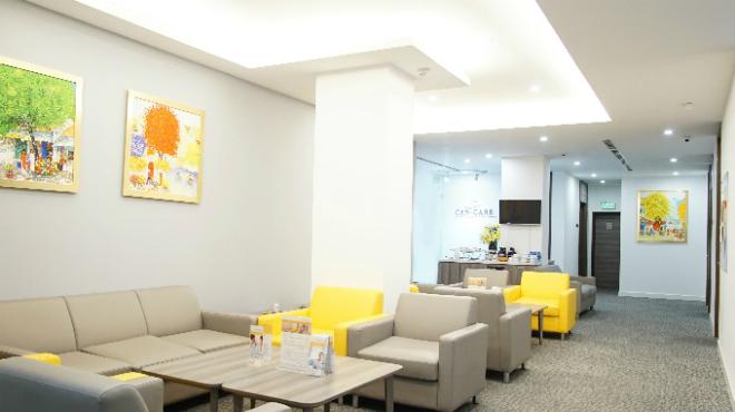 Cơ sở đón tiếp bệnh nhân khang trang tại phòng khám Ung bướu Singapore - Việt Nam, nơi khám chữa bệnh ung thư vú.
