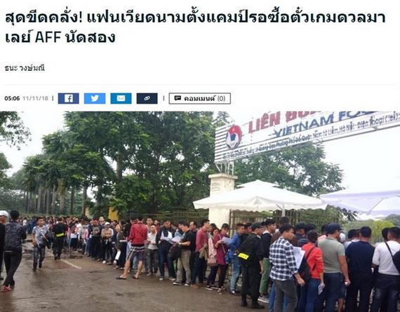 Người hâm mộ xếp hàng mua vé ủng hộ tuyển Việt Nam