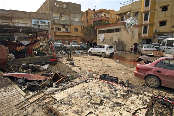Hiện trường một vụ tấn công tại Benghazi