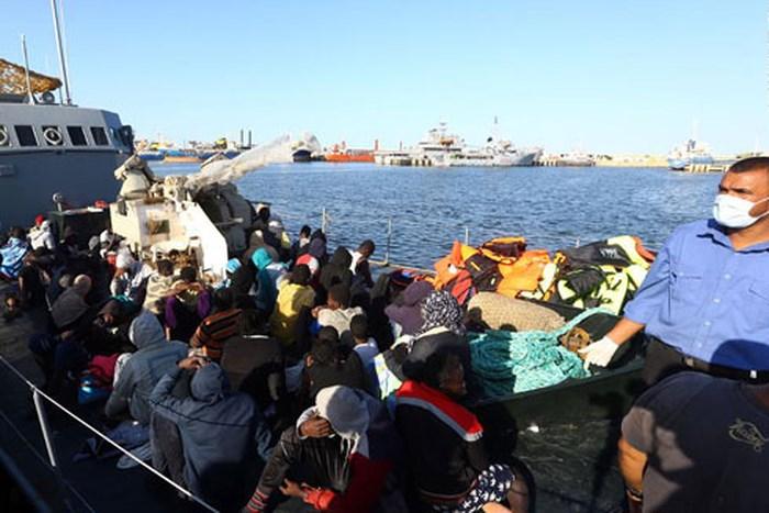 Người di cư tại Lybia.