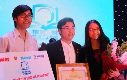 Nhóm sáng lập Hệ thống xác thực trình độ học vấn là một trong 4 nhóm đạt giải cao nhất cuộc thi 'Tri thức trẻ vì giáo dục' năm 2018.