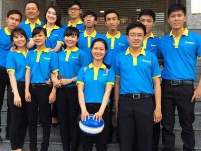 Áo đồng phục màu xanh