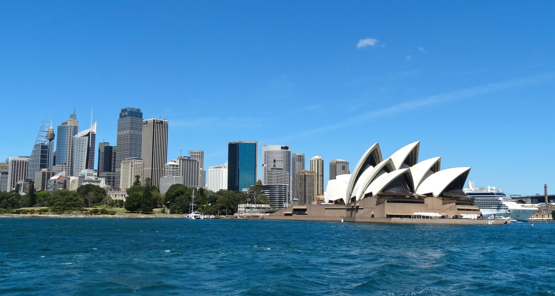 Nhà hát Sydney Opera House và cầu Sydney Harbour