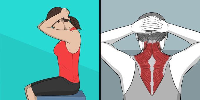 Bài tập căng cơ duỗi cổ